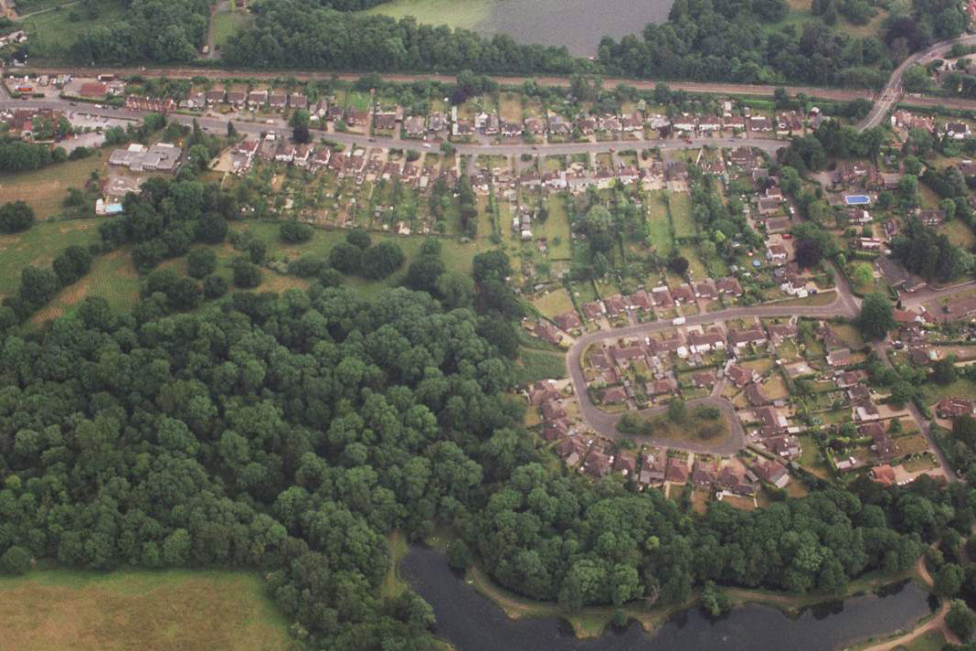 Air Photo from the North St Martha Parish Guildford Surrey